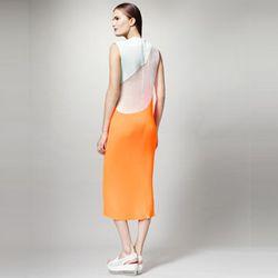 "<strong>Stella McCartney</strong> Colorblock Plisse Dress, <a href=""http://www.neimanmarcus.com/Stella-McCartney-Colorblock-Plisse-Dress-orange-dress/prod155040204___/p.prod?icid=&searchType=MAIN&rte=%252Fsearch.jsp%253FN%253D0%2526Ntt%253Dorange%252Bdres"