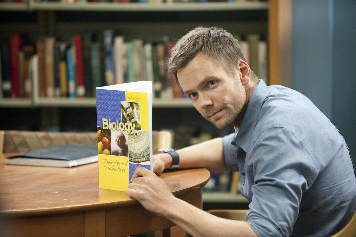"""In this publicity photo provided by Sony Pictures Television, actor, Joel McHale, is shown in a scene from """"Community - Introduction to Finality."""""""