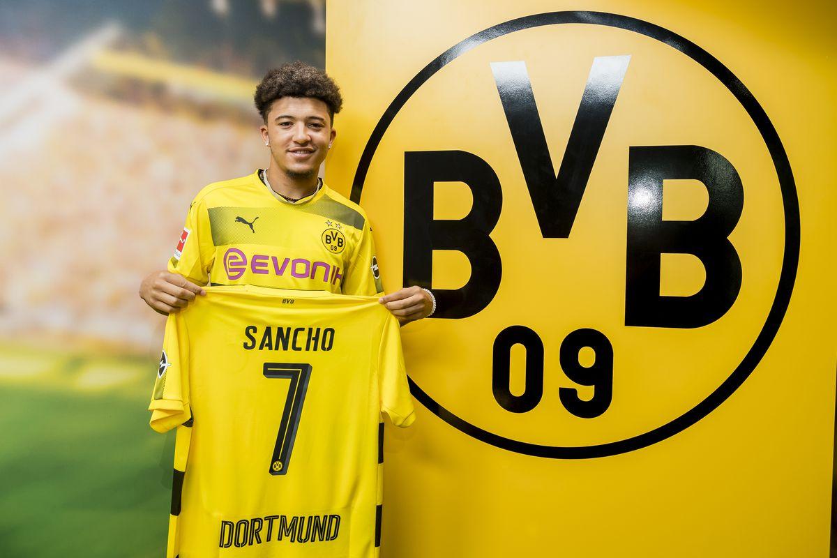 Borussia Dortmund Unveils New Signing Jadon Sancho
