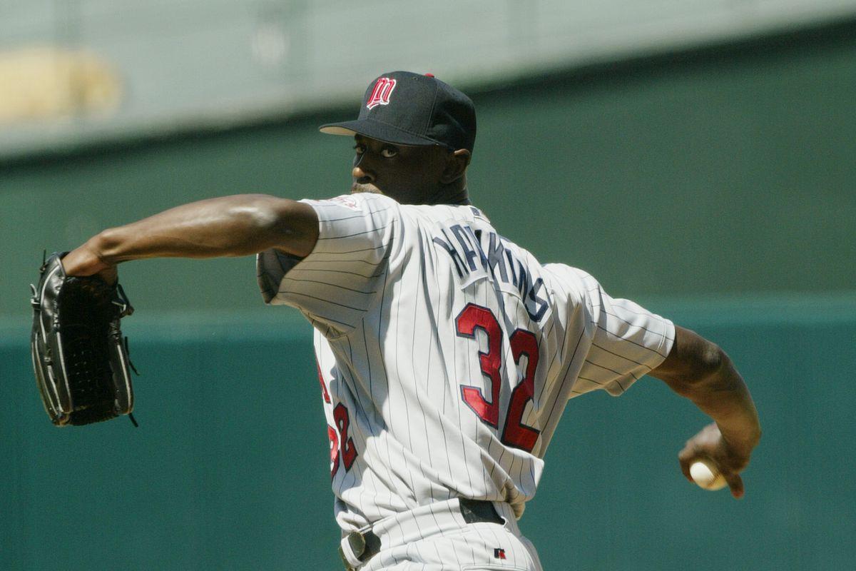 LaTroy Hawkins pitches