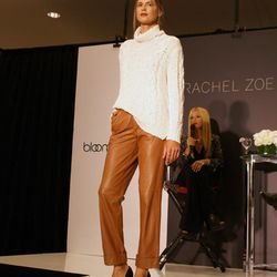"""These sleek, slightly pleated leather trousers sparked a playful debate when Zoe riffed on her hubby's collection of """"very wrong"""" pleated pants."""