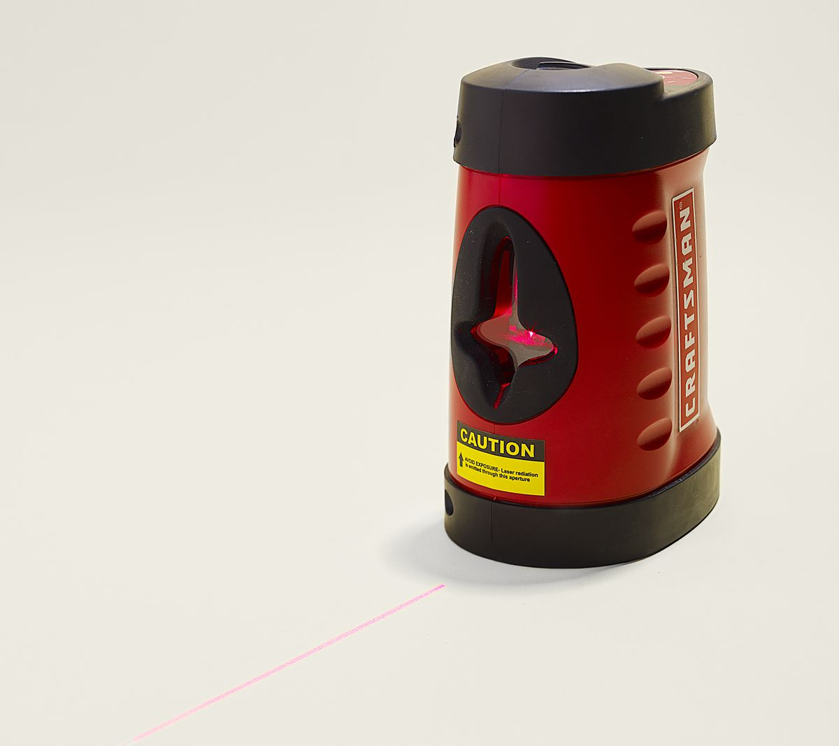 A laser level that works well for tile and floor because the light comes from the side of the device at a 120 degree angle.