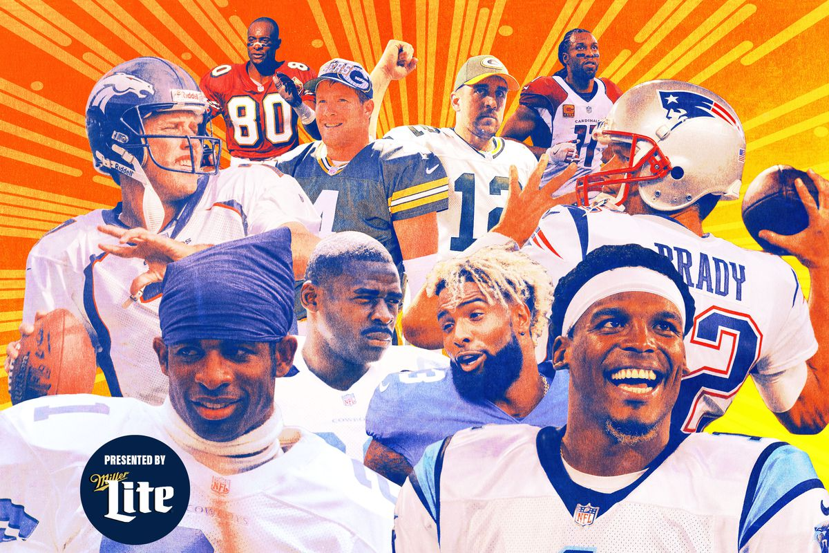 A photo collage of NFL players