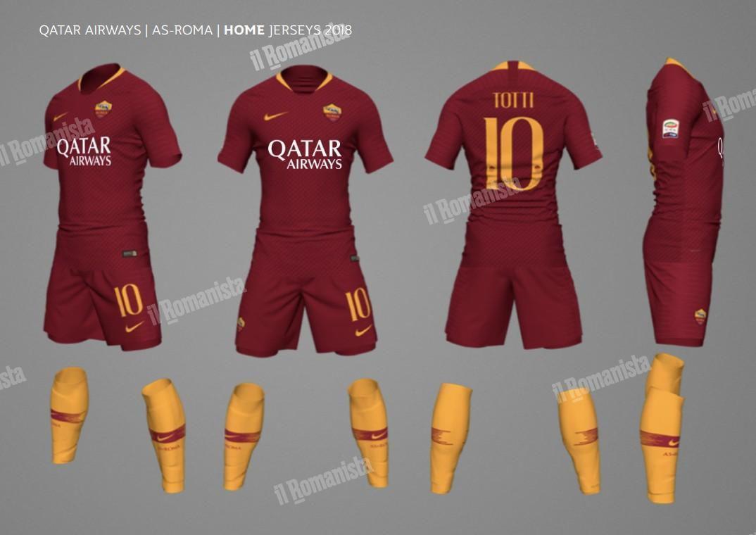 4365e666cd7 Full 2018-19 AS Roma Kit Line Leaks - Chiesa Di Totti