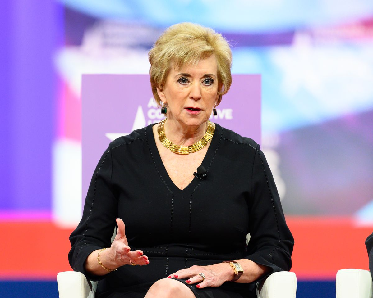 Linda McMahon, Administrator of the Small Business...