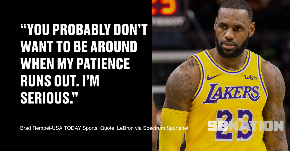 Lakers: LeBron James says 'you probably don't want to be ...