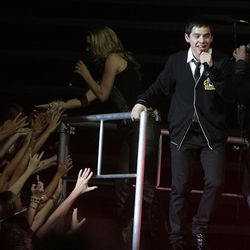 David Archuleta performs during the American Idols Live concert at the E Center in West Valley on Monday night.