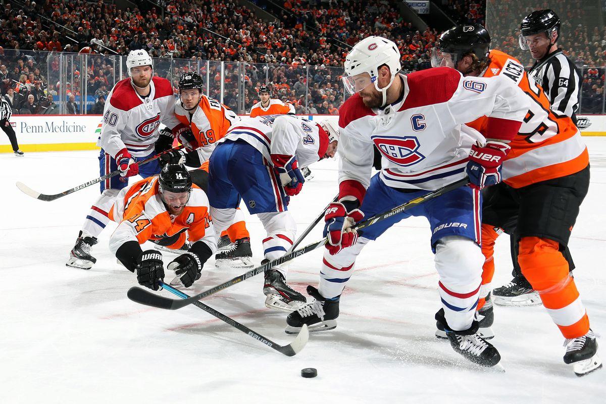 Montreal Canadiens v Philadelphia Flyers