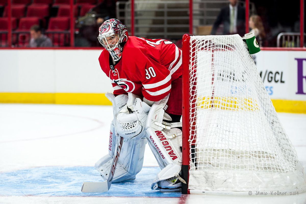Cam Ward will face St. Louis — a team he has a successful history against — in Tuesday's preseason game.