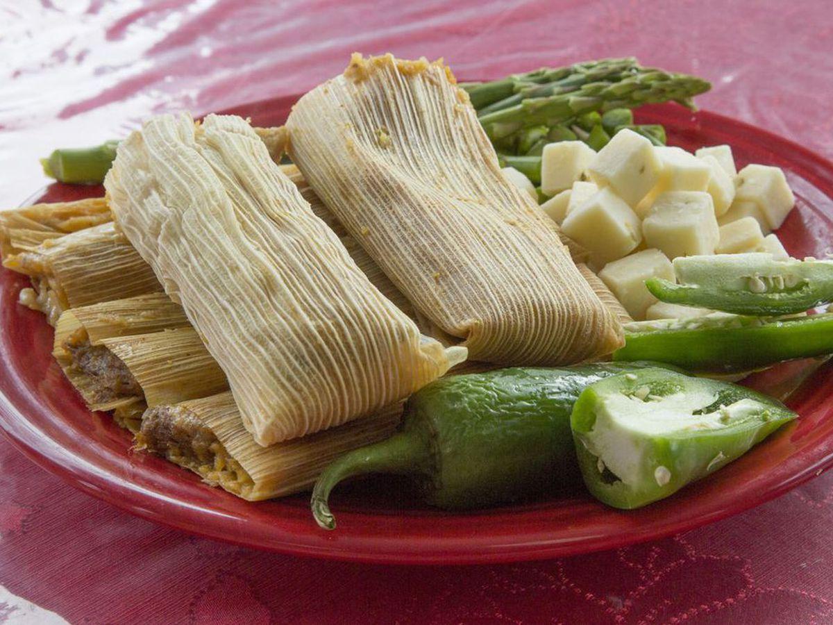 A plate of tamales at Los Hernandez Tamales.