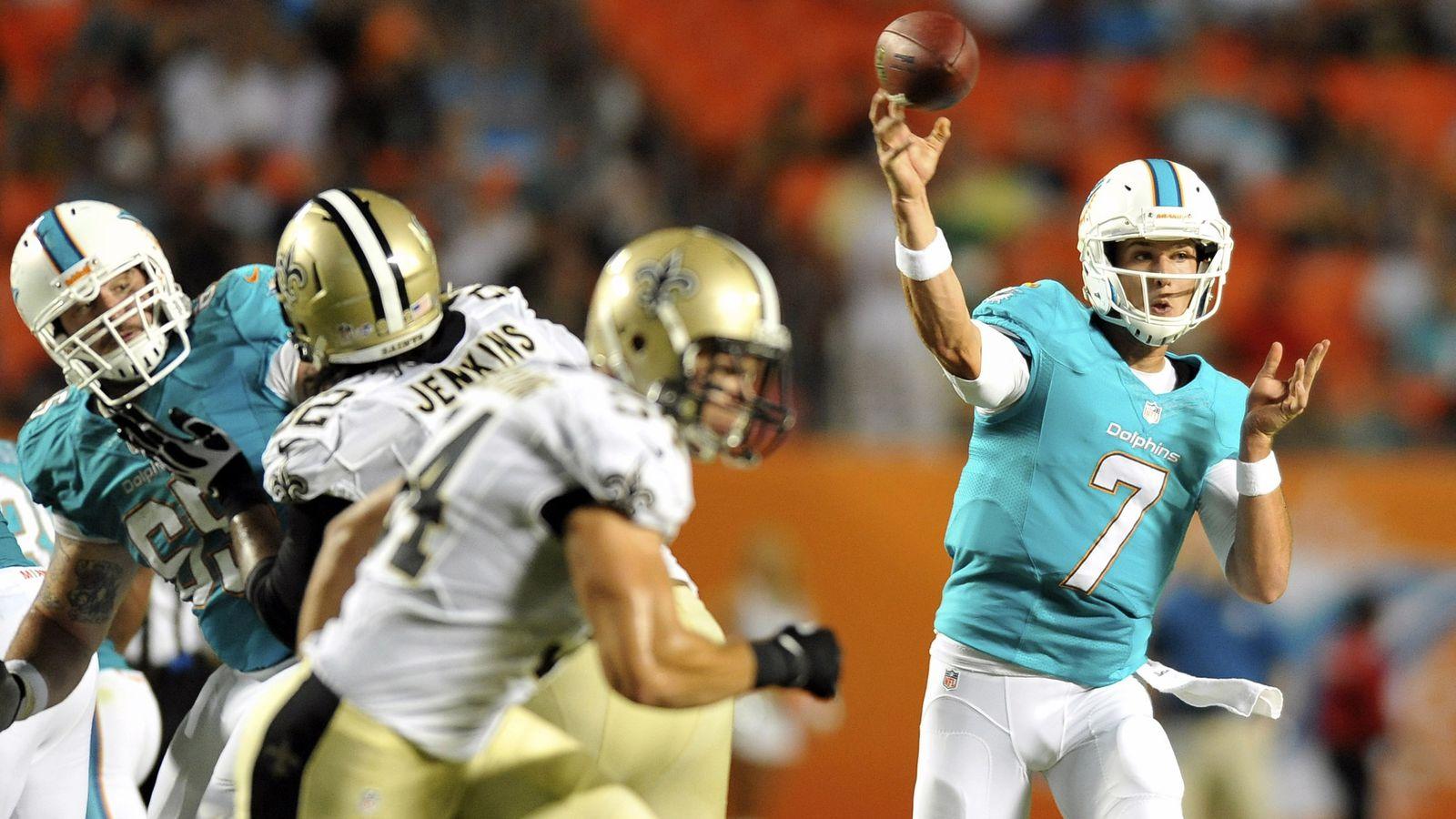Saints vs. Dolphins 2013赛季结果:迈阿密结束了新奥尔良不败的季前赛,24-21