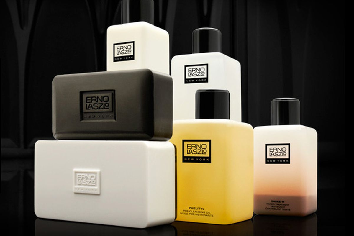 Erno Laszlo soap and bottles of skin care