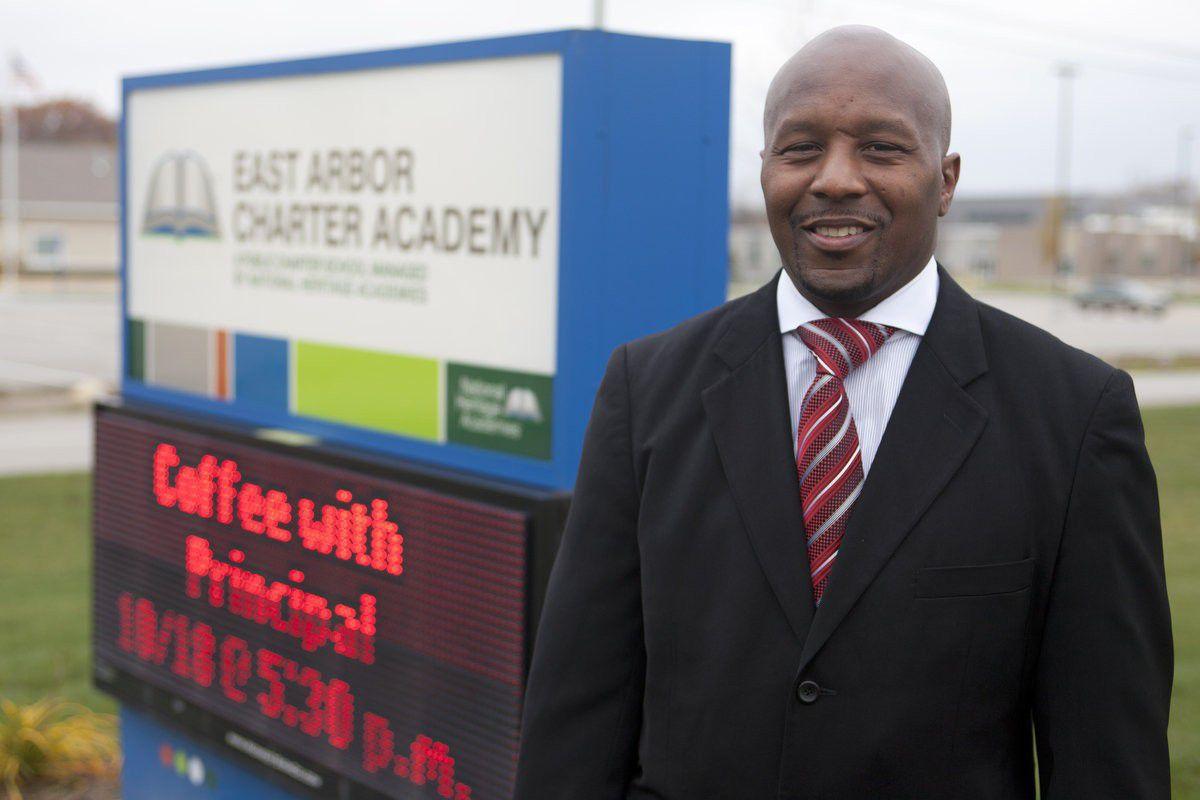 Shawn Leonard was named a top charter school principal in Michigan in 2013.