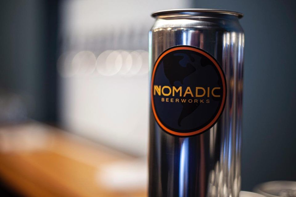A can at Nomadic Beerworks