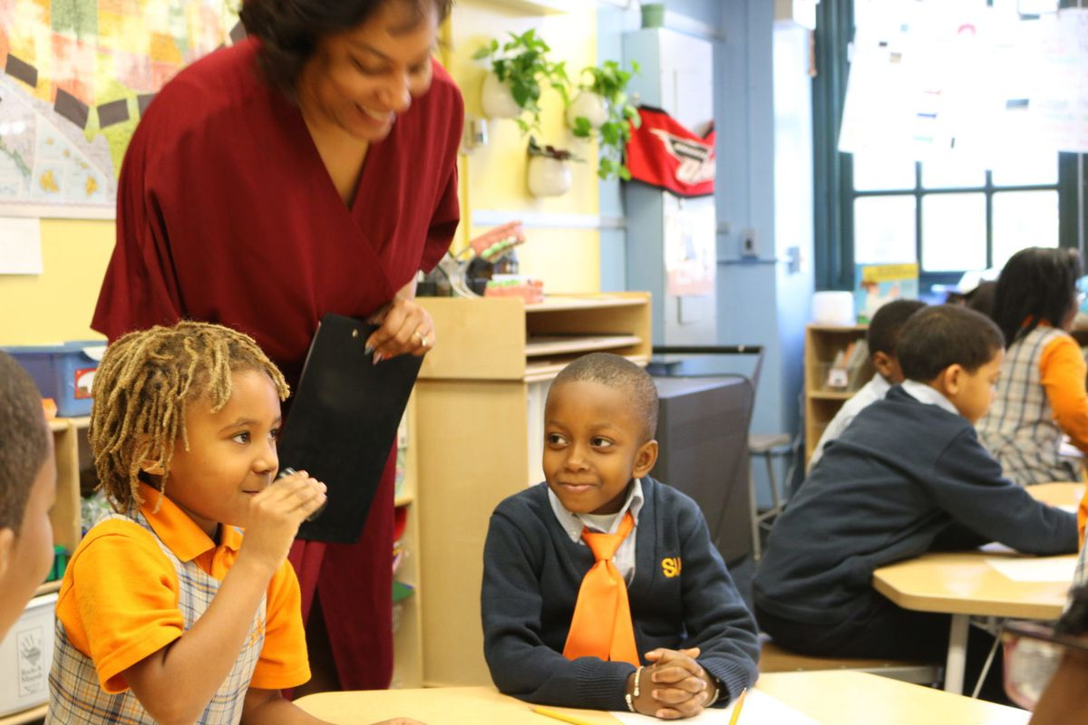 Students participate in science class at Success Academy Harlem 1.