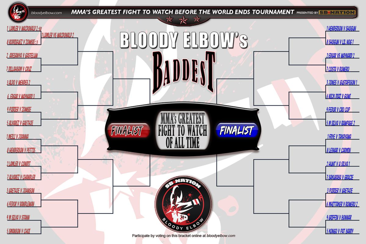 BE's BADDEST, Tournament, Bracket, Greatest Fight, Round 1, Bout 2