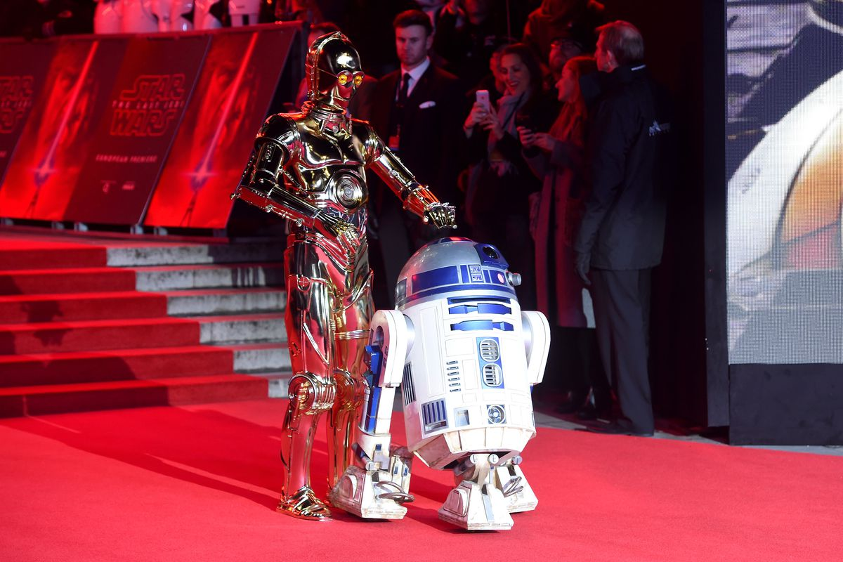 """C3PO and R2D2, the robots from the original """"Star Wars"""" movie"""