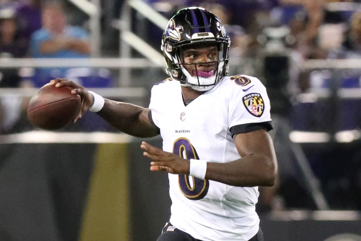 "buy online a48cc 6aa62 Ravens QB Lamar Jackson: ""I'm trying to score touchdowns - I ..."