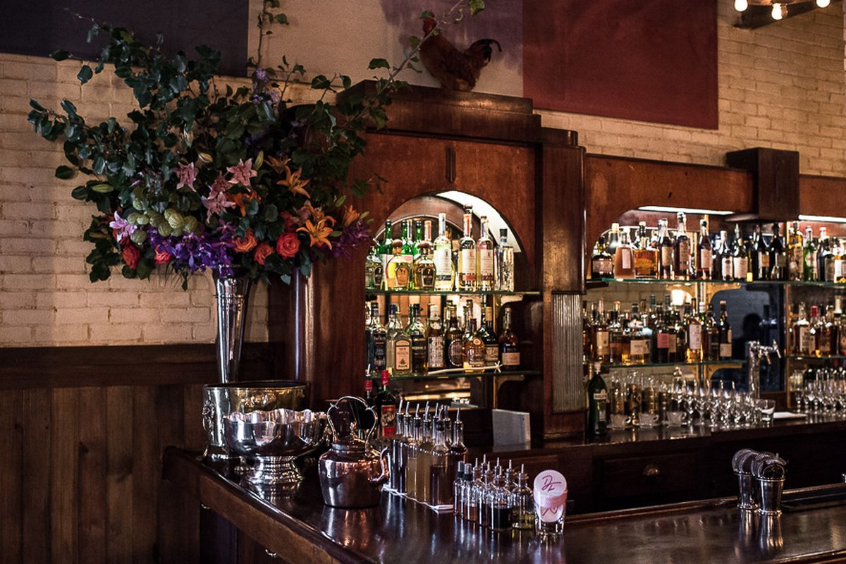 [The bar at Dirty French on the Lower East Side]