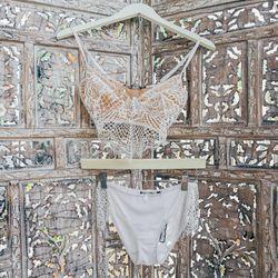 For Love & Lemons Bralette, $121; For Love & Lemons Underwear, $59