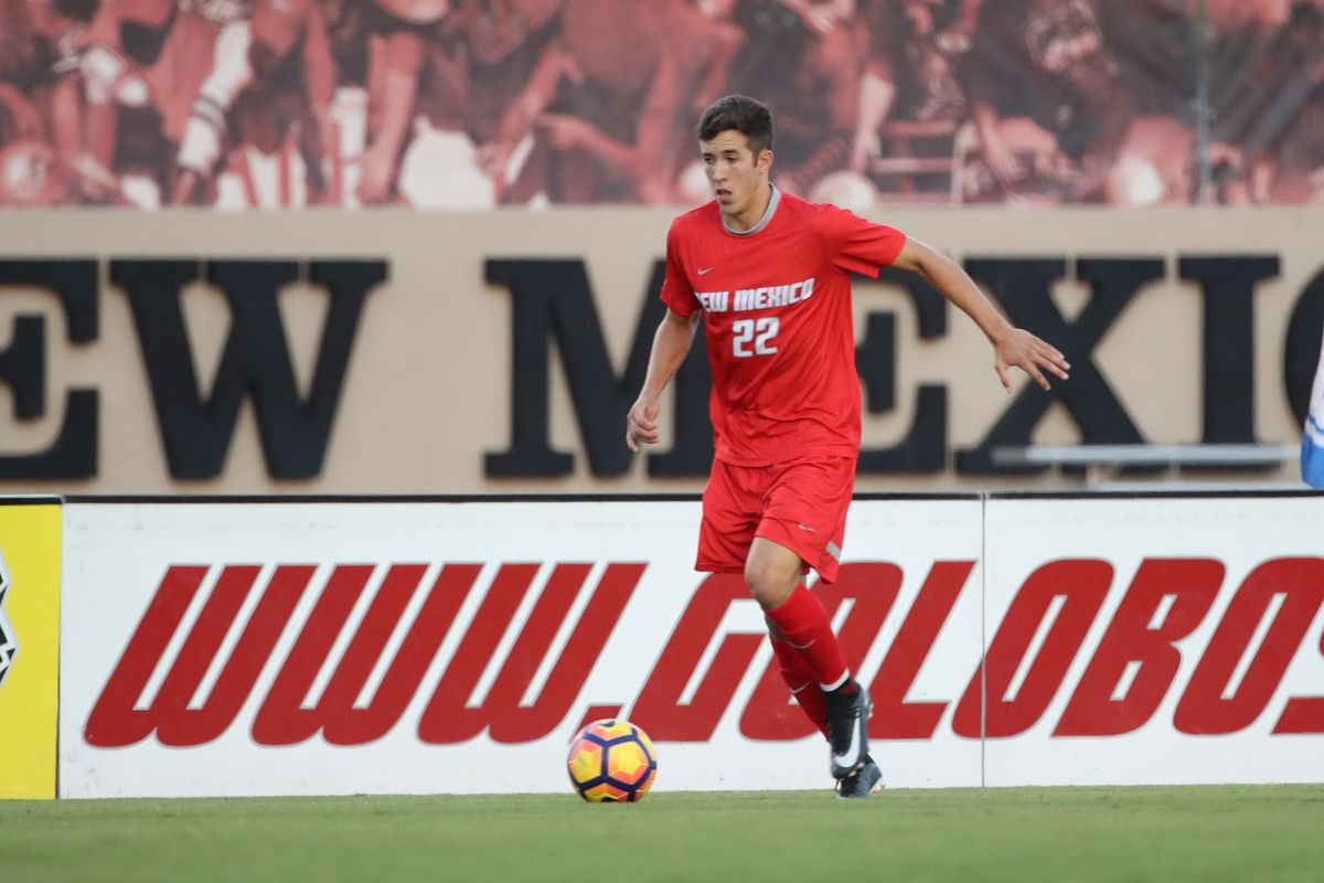 Aaron Herrera playing with University of New Mexico