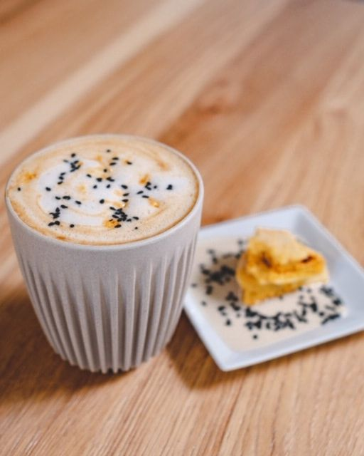 A honey sesame latte from Sweet Science