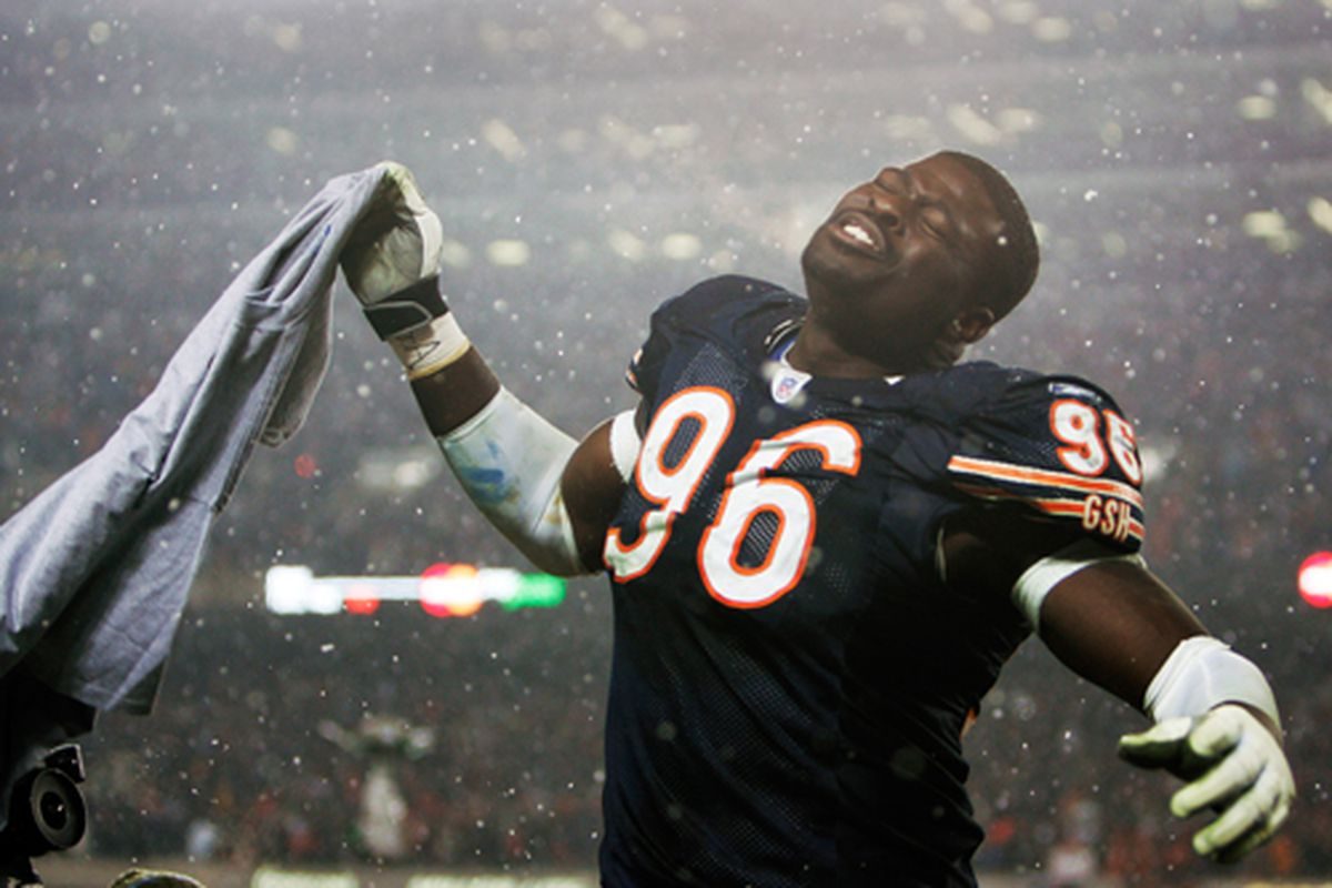 (AP Photo/Nam Y. Huh) Brown seen here celebrating the Bears victory over the Saints in the 2006 NFC Championship game.
