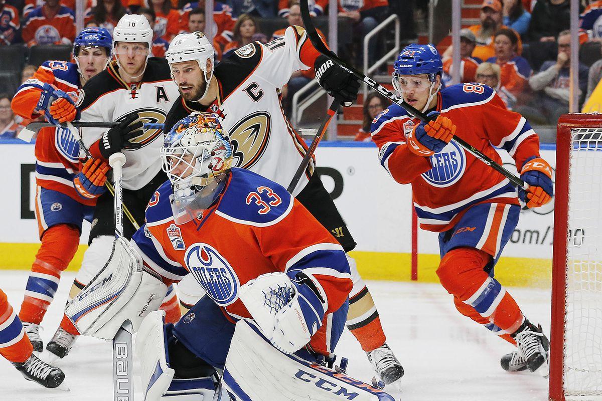 NHL: Stanley Cup Playoffs-Anaheim Ducks at Edmonton Oilers