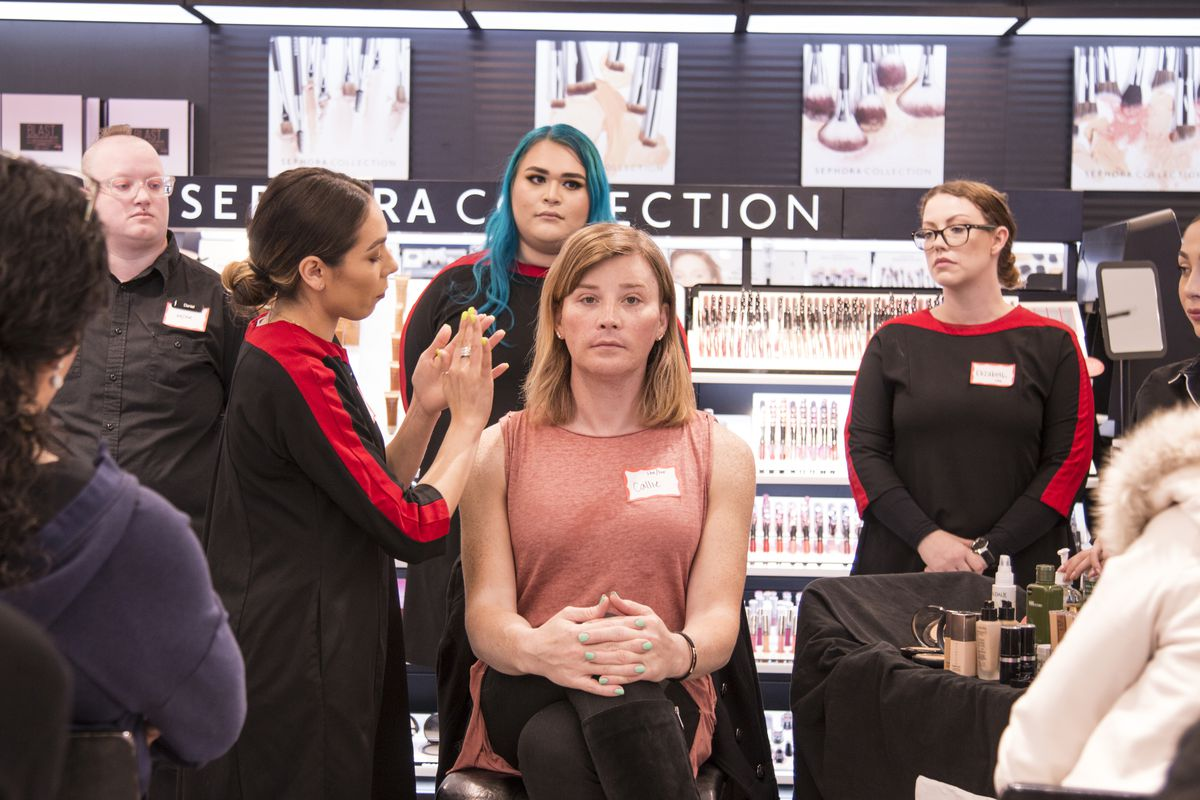 a sephora makeup artist on teaching classes for