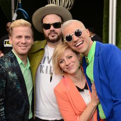 Neon Trees poses at Universal Music Brunch to Celebrate the 56th Annual GRAMMY Awards on Jan. 25 in Hollywood, Calif.