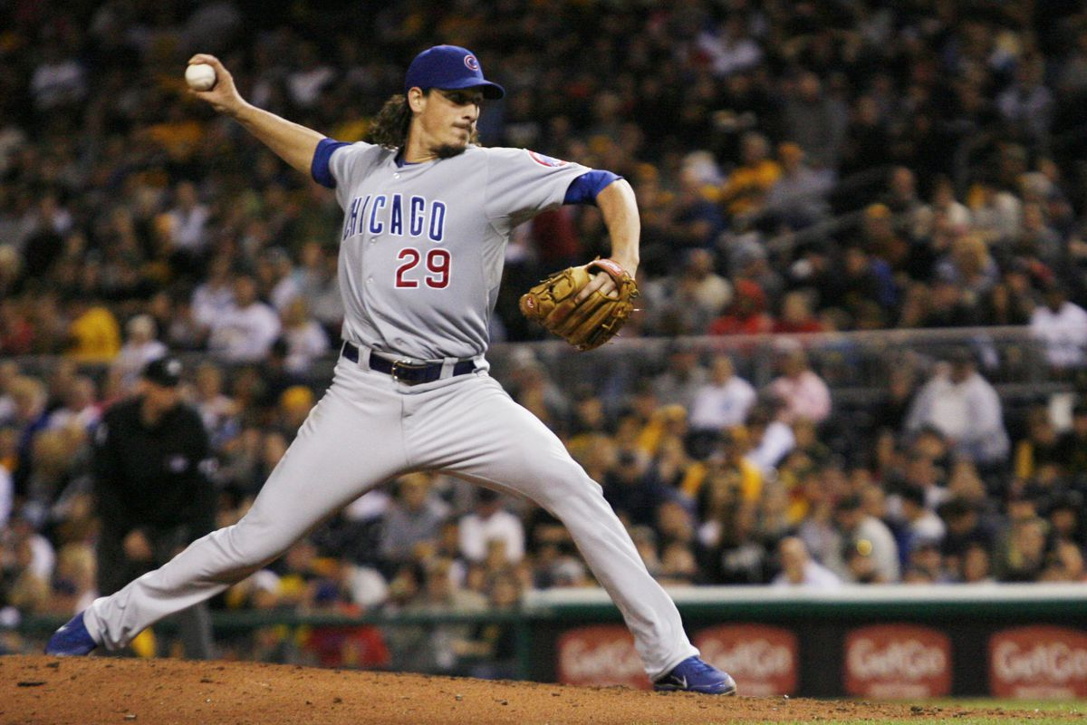 Pittsburgh, PA, USA; Chicago Cubs starting pitcher Jeff Samardzija pitches against the Pittsburgh Pirates at PNC Park. The Chicago Cubs won 4-3. Credit: Charles LeClaire-US PRESSWIRE