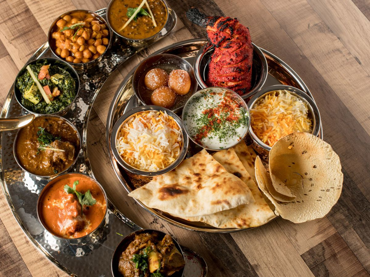 A thali platterfor two at Bombay Street Food.