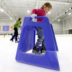 Marinda Covington skates at Peaks Ice Arena in Provo on Wednesday, April 5, 2017.