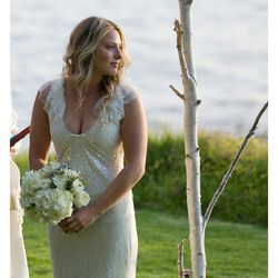 """""""I got married in Big Sur. My chantilly lace dress was by <b>Vera Wang</b> and my shoes were by <b>Christian Louboutin</b>. I later switched to <b>UGGs</b>!"""" — <a href=""""http://rorybeca.com/""""target=""""_blank"""">Rory Beca</a>, designer</a>."""