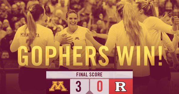 Minnesota Volleyball defeats Rutgersq