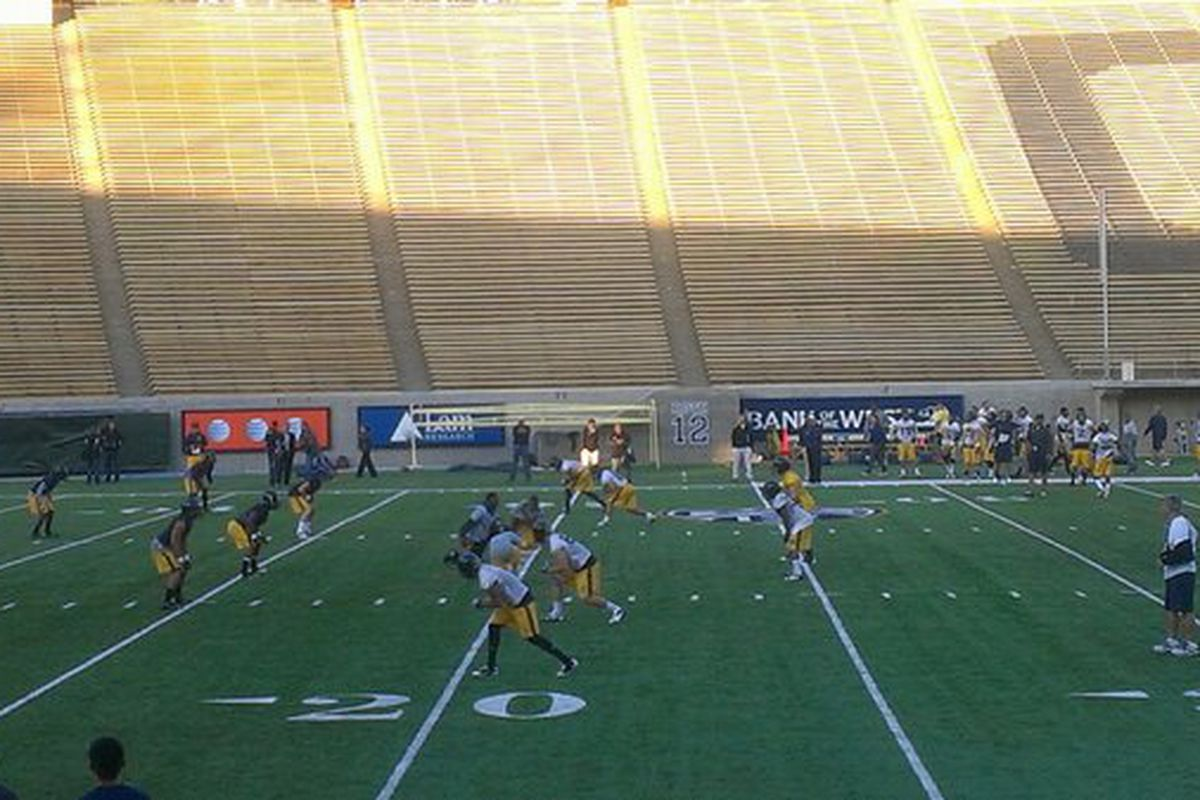 Cal spring practice 7-on-7s