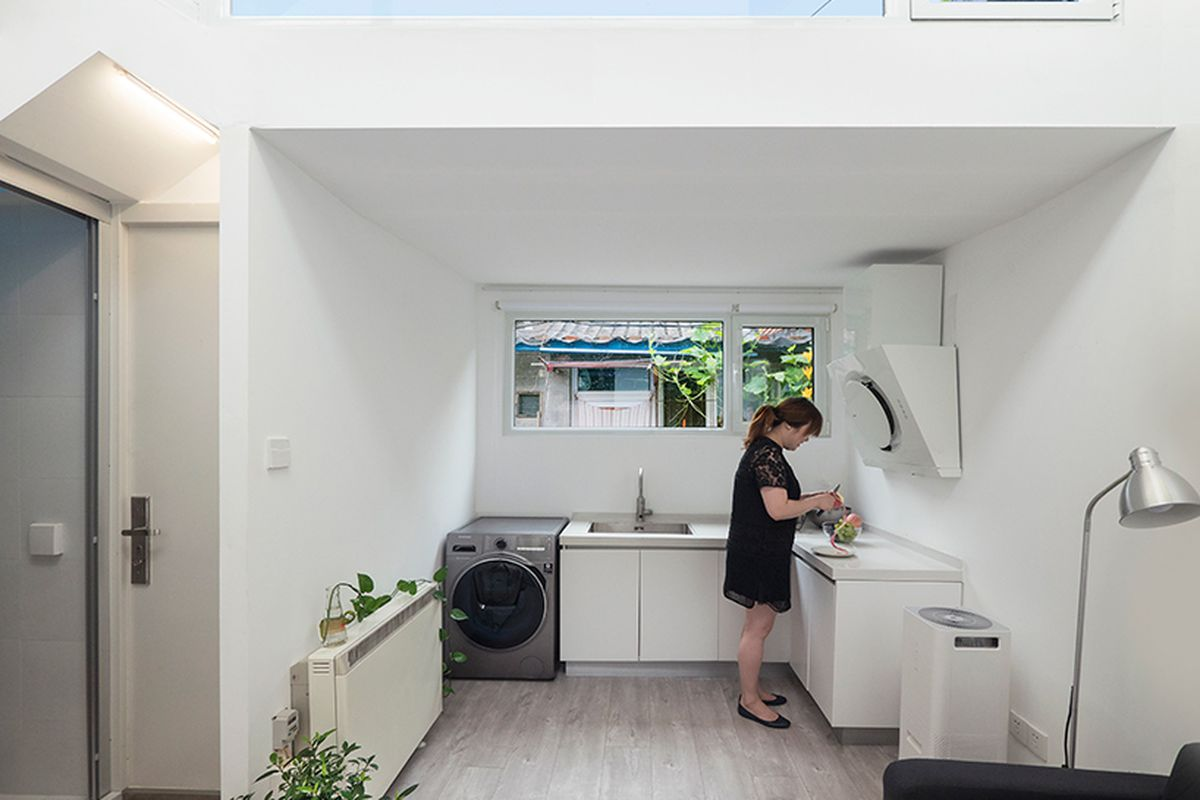 Prefab extension adds light and space to Beijing home - Curbed