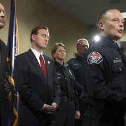 West Valley Deputy Police Chief Mike Powell conducts a news conference Monday, May 20, 2013, to discuss detailed information on the Susan Cox Powell investigation. Susan Powell was last seen in December 2009.
