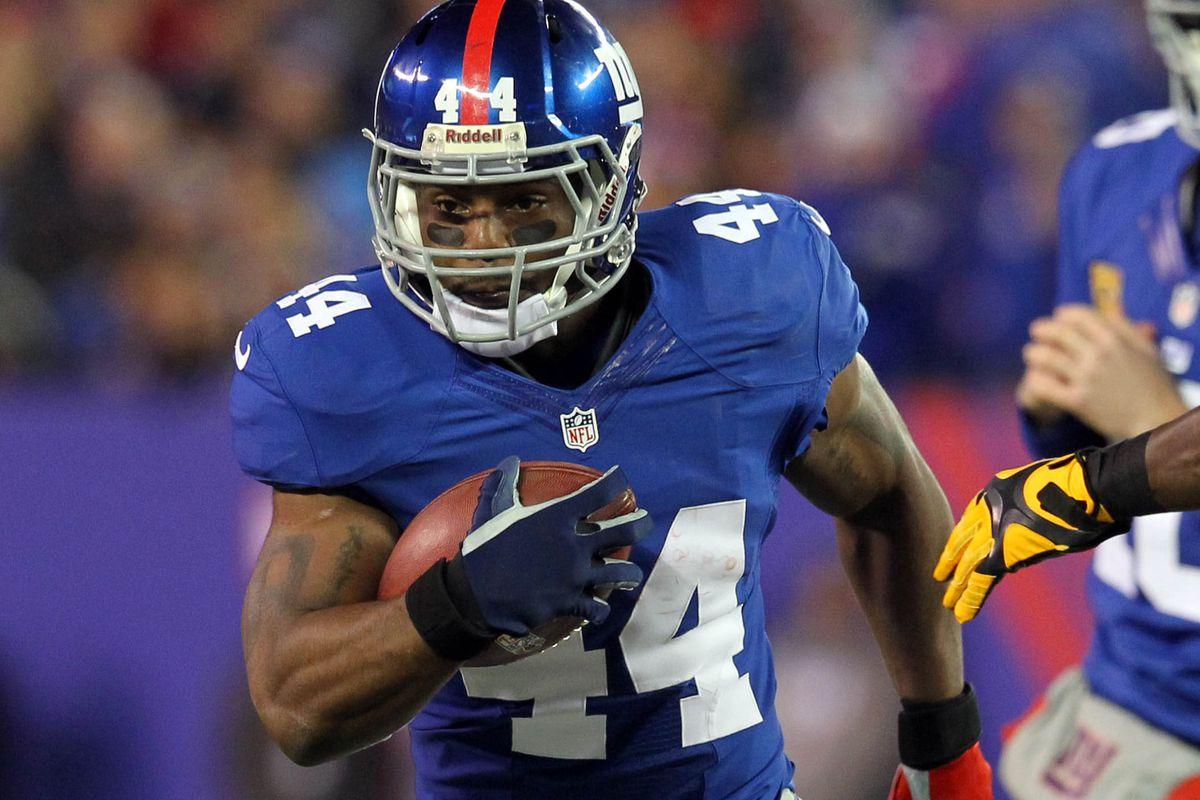 Giants' running back Ahmad Bradshaw.