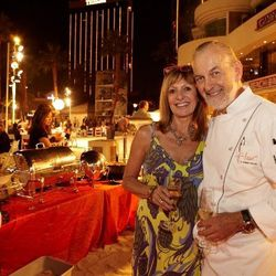 Fleur chef and creator Huber Keller and his wife Chantal at the Surfside Soirée on Mandalay Bay Beach.