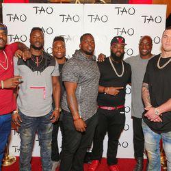 Denver Broncos players at Tao. Photo: Tony Tran