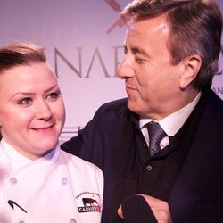 Nicole Brisson of Carnevino with Daniel Boulud