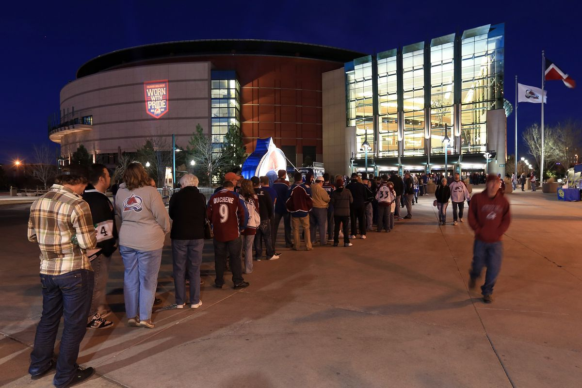 It's been 291 days since the Avs last home game and it showed with the long line to get into Pepsi Center for tonight's home opener versus the defending Stanley Cup Champion L.A. Kings
