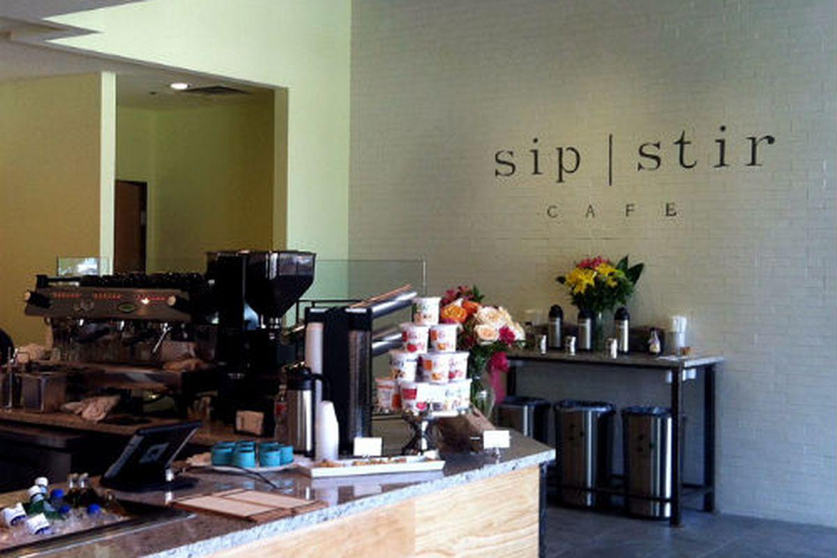 Sip Stir Cafe in West Village.