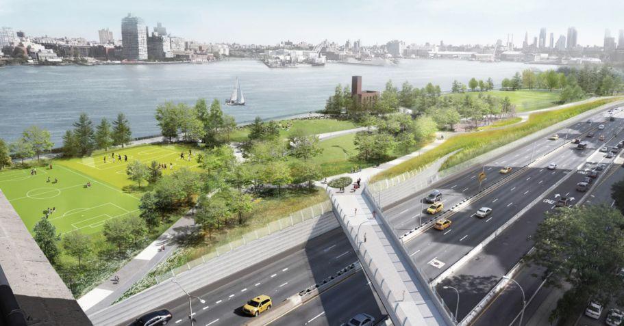 Community board considers flood barrier park for Manhattan's east side