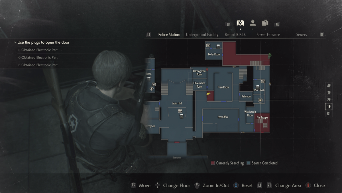 Resident Evil 2 Mr. Raccoon Break Room map