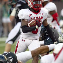 Lamar defensive back Mike Venson runs a kick return during the first half of their NCAA college football game against Hawaii, Saturday, Sept. 15, 2012, in Honolulu.