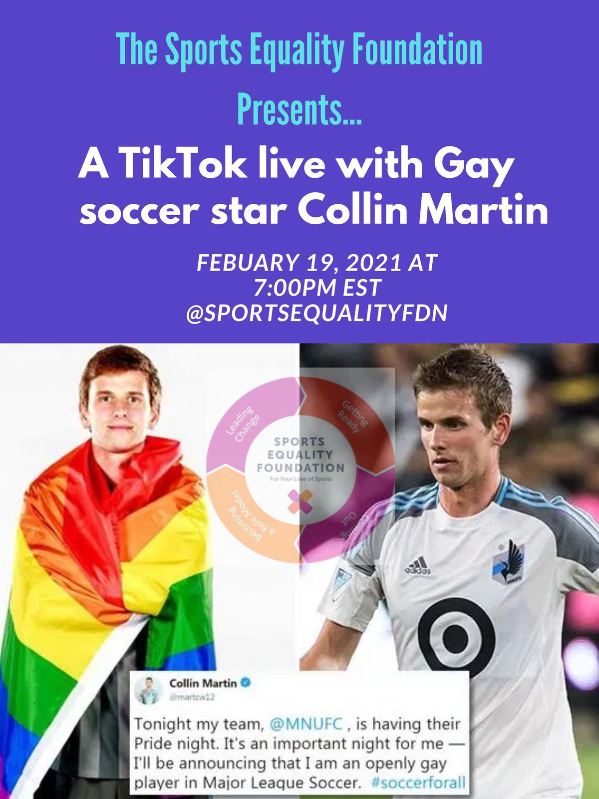 Couper Gunn wears the LGBTQ Pride flag and Collin Martin plays soccer for the Loyals in San Diego.