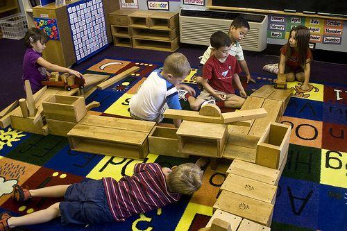 A play-based kindergarten class. Via Flickr
