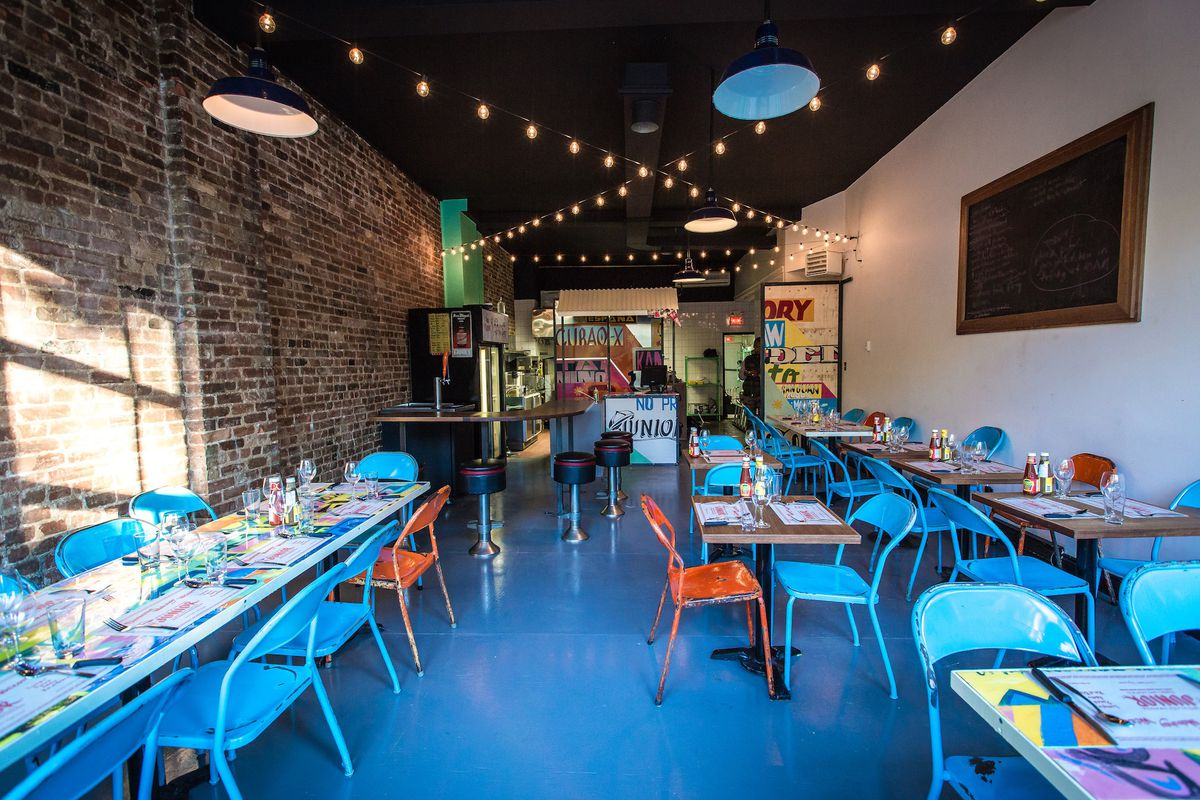 Inside the new Junior in Griffintown, at 1964 rue Notre-Dame Ouest